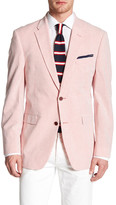 Tommy Hilfiger Polk Red Striped Two Button Notch Lapel Sportcoat