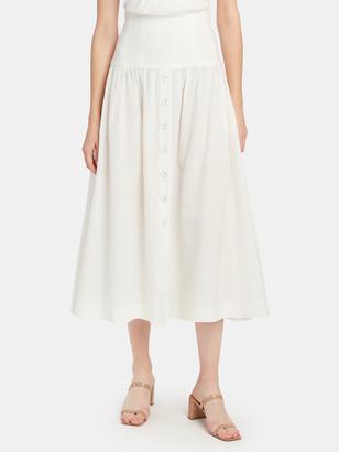 Bec & Bridge Puka Shell Drop Waist Midi Skirt