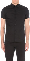 Armani Jeans Slim-fit stretch-cotton short-sleeved shirt