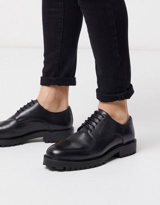 Walk London sean derby in black leather