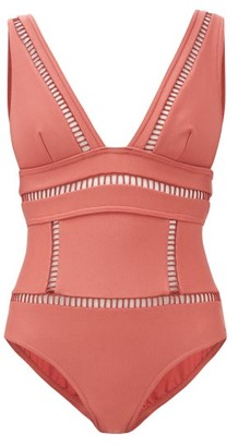 Zimmermann Bonita Ladder Cutout Swimsuit - Womens - Dark Red