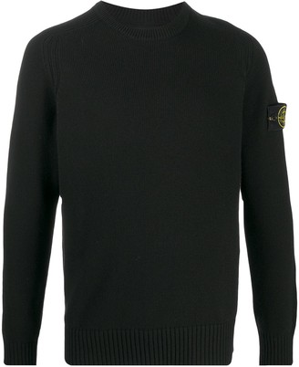 Stone Island Logo Patch Long-Sleeve Jumper