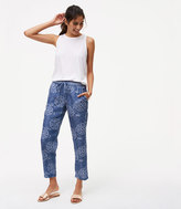 LOFT Chambray Floral Drawstring Pants
