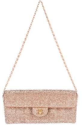 Chanel Strass Chocolate Bar E/W Flap Bag