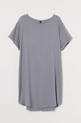 H&M H&M+ Short T-shirt Dress - Gray