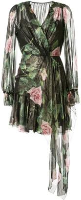 Dolce & Gabbana chiffon rose print dress