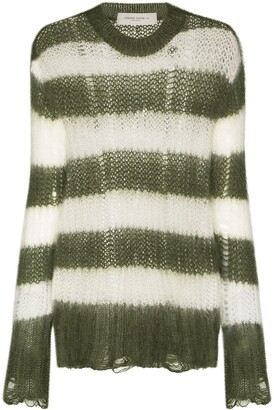 Golden Goose Antonicca open knit striped jumper