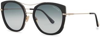 Tom Ford Joey Black Oversized Sunglasses