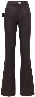 Bottega Veneta Cotton Denim Straight Pants