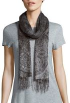 Fraas Paisley Fringed Scarf