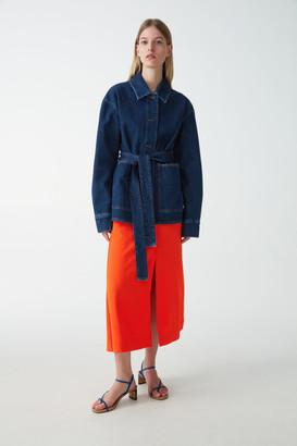 Cos Belted Denim Jacket