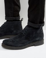 Base London Rufus Suede Chukka Boots