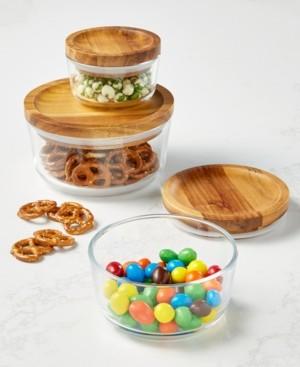 Pyrex 6-Pc. Storage Set with Wood Lids