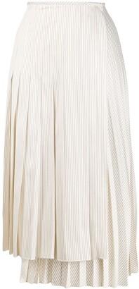 Fendi Pleated Striped Skirt