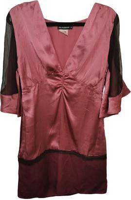 Antik Batik Burgundy Silk Dress for Women Vintage