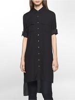 Calvin Klein Roll-Up Tunic High-Low Dress