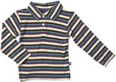 Kickee Pants Print Polo (Baby) - Bobsled Stripe-0-3 Months