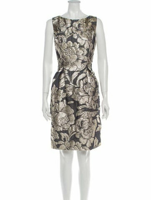 Lela Rose Printed Knee-Length Dress Rose