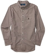Ralph Lauren Boys' Plaid Poplin Shirt - Sizes S-XL