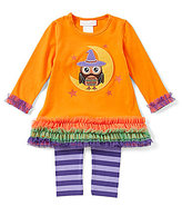Bonnie Jean Bonnie Baby Baby Girls 12-24 Months Halloween Witch Owl Dress & Striped Leggings Set
