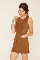 Forever 21 FOREVER 21+ Genuine Suede Shift Dress