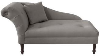 Laurel Foundry Modern Farmhouse Arno Chaise Lounge Upholstery Color: Velvet Navy
