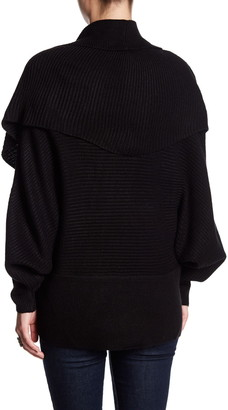 Vertigo Rib Knit Cocoon Sweater