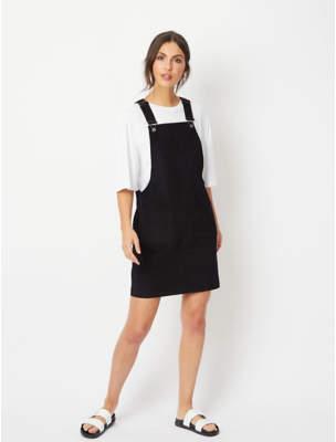 George Black Cord Pinafore Dress