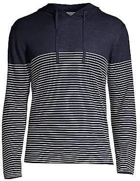 Onia Men's Frank Stripe Sweater Hoodie