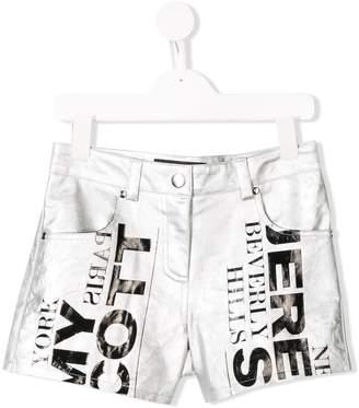 Jeremy Scott Junior TEEN logo print shorts