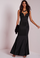 Missguided Sweetheart Neck Maxi Dress Black