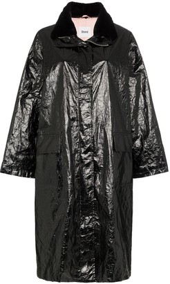 Stand Studio Maia papery print patent parka