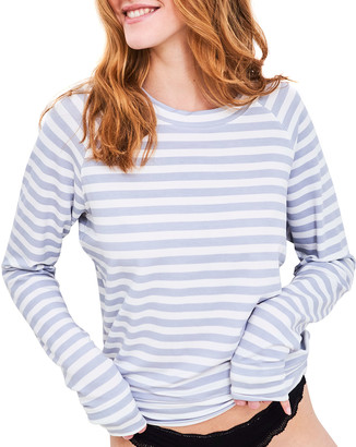 Stripe & Stare Striped Raglan-Sleeve Sweatshirt