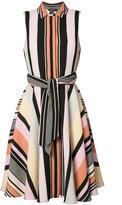 Badgley Mischka striped shirt dress - women - Polyester - 6