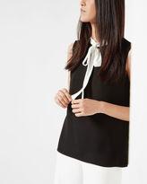 OLIA Bow tie crepe top