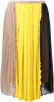 No.21 colour block pleated skirt