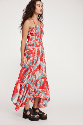 Free People Heat Wave Printed Maxi Slip