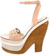 Nina Ricci Leather Platform Sandals