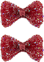 Monsoon 2x Dazzling Ruby Bow Hair Clips