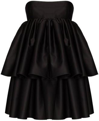 Rotate by Birger Christensen Carmina strapless layered dress
