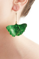 Aurelie Bidermann 18kt Gold Ginkgo Leaf Earrings