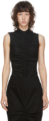 Edit SSENSE Exclusive Black Sleeveless Ruch Front T-Shirt