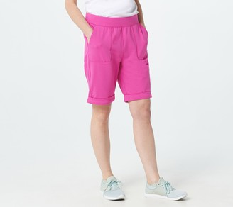 Denim & Co. Active French Terry Pull-On Shorts with Roll Cuff