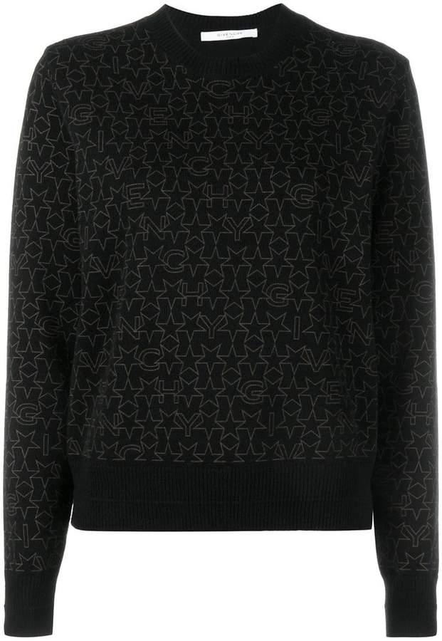 Givenchy star logo print sweater