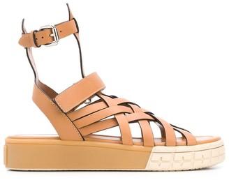 Prada Sandals 3cm Heel Cross