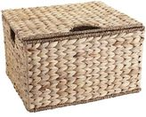 Pier 1 Imports Carson Natural Wicker Rectangular Lidded Storage Basket