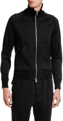 Tom Ford Men's Solid Cotton-Blend Zip-Front Sweatshirt