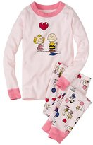 Kids Snoopy Be Mine Long John Pajamas In Organic Cotton