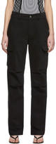 Alexander Wang Black Twill Cargo Trousers