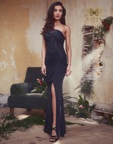 Lipsy Vip Sequin 1 Shoulder Maxi Dress